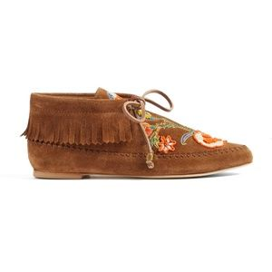 a8e973c4c02 Tory Burch Shoes - TORY BURCH Huntington booties embroidered Fringe